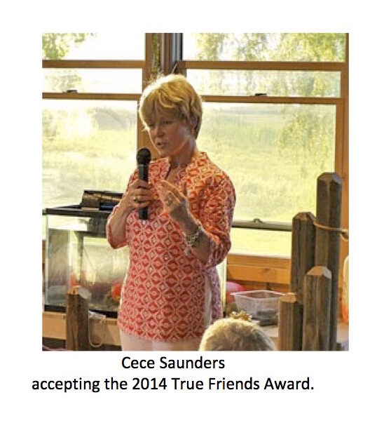 Cece Saunders was awarded the True Friends Award