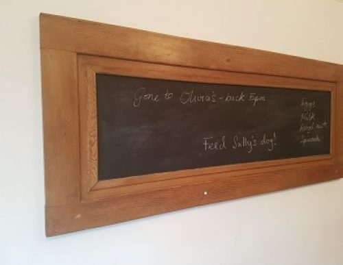 upcycled door blackboard