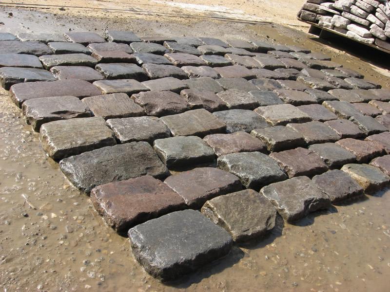 granite cobblestone thin pavers