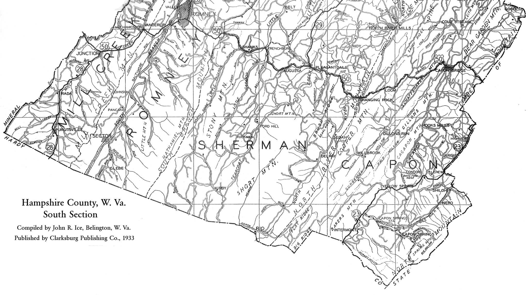 Hampshire County Wv History Homepage