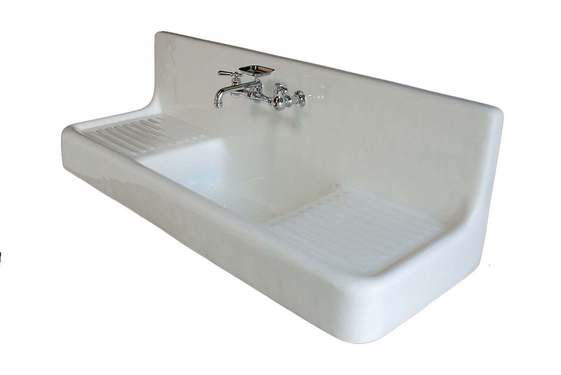 the clarion traditional 5 farmhouse porcelain kitchen sink with drainboard and backsplash