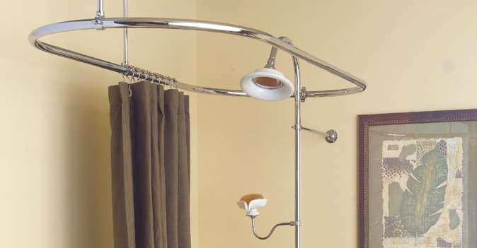 oval shower curtain ring or enclosure for clawfoot bathtub multiple finishes available