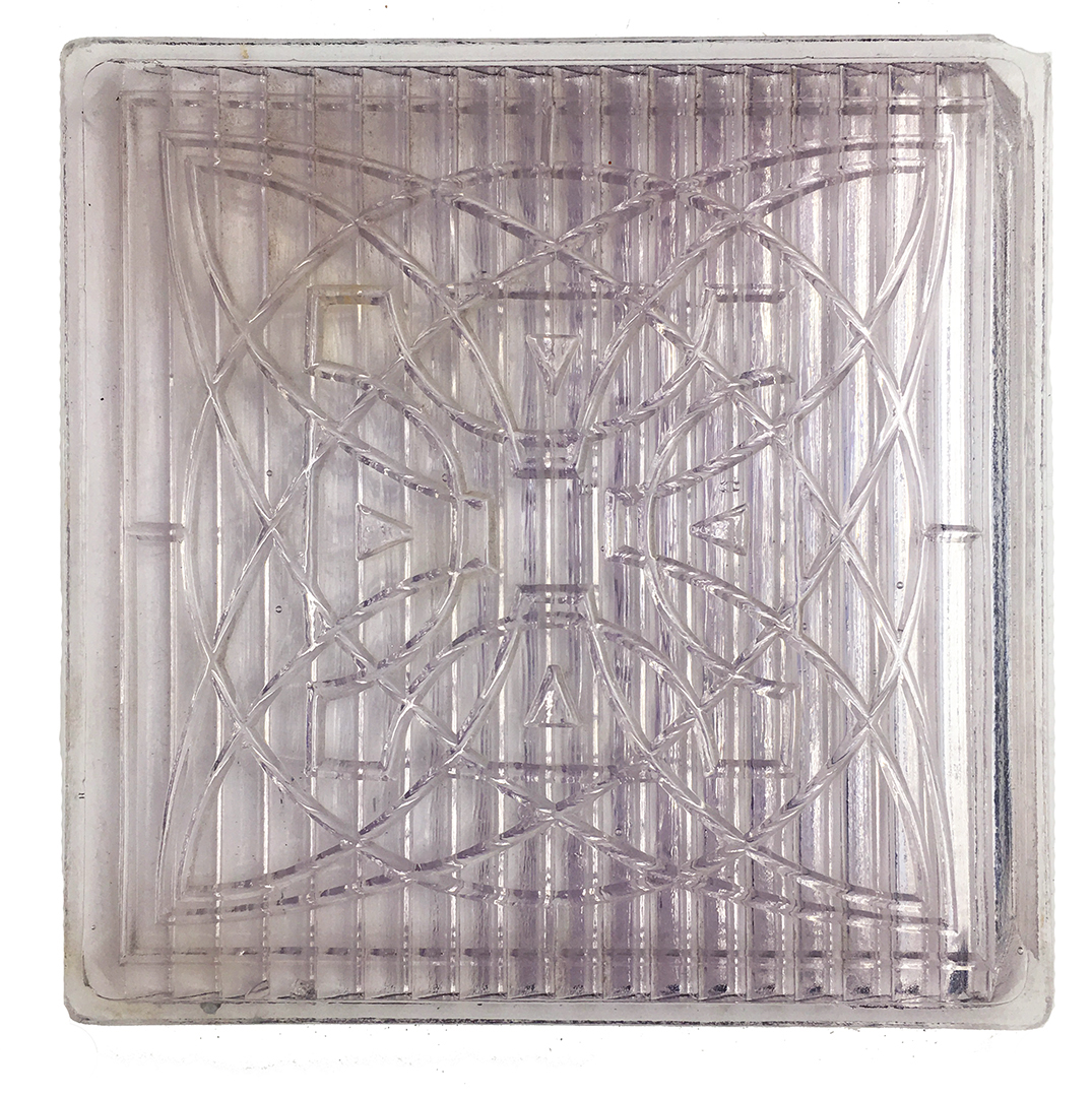 antique luxfer prism co 4 x 4 glass tile frank lloyd wright flower pattern