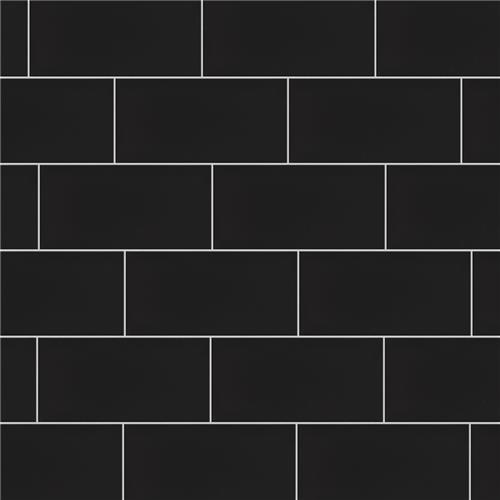 crown heights matte black 3 x 6 subway tile glossy black sold per case of 44 tile 6 03 square feet
