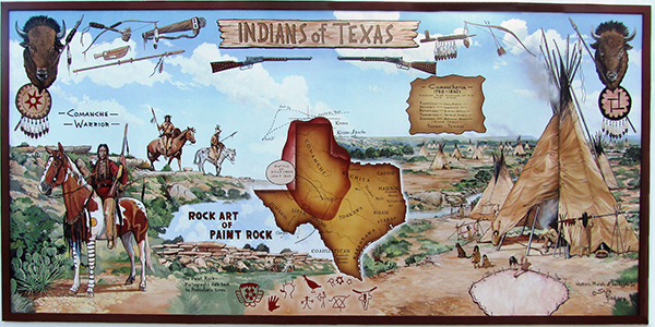 Map All Indian Tribes Texas