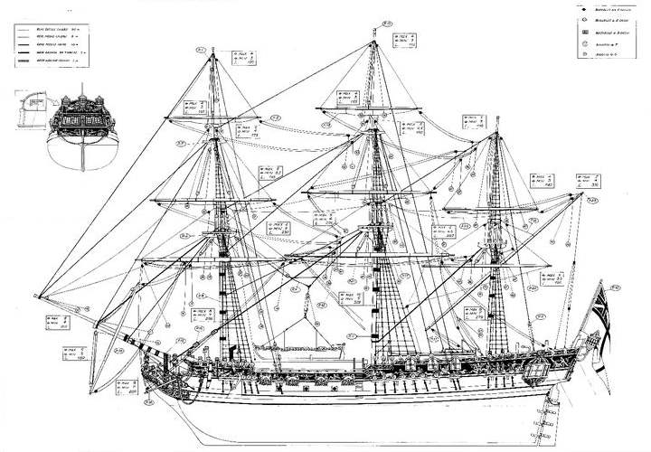uss constitution diagram 7 pin trailer connector autozone plans - historic ships