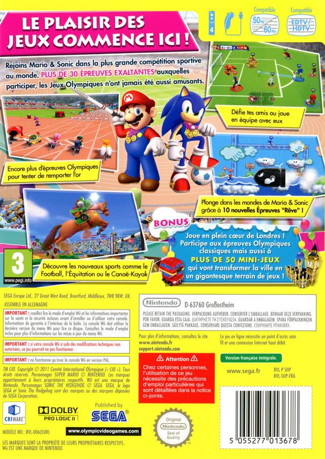 Jeu Video Mario Amp Sonic Aux Jeux Olympiques De Londres