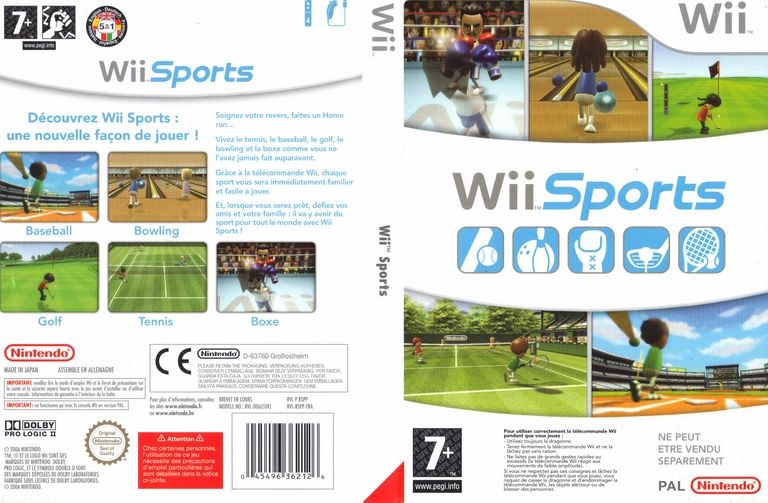 Jeu Video Wii Sports Sur Wii 2 Images Jaquette Scans