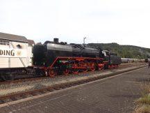 01 118 im Bahnhof Meiningen © Friedbert Uhlig