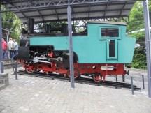 Drachenfelsbahn ausgestellte Dampflok / Bild: Wikipedia