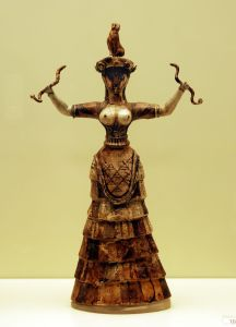 Faience Snake Goddess-Heraklion Achaeological Museum - George Groutas