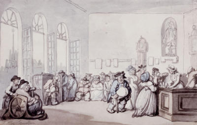 The Comforts Of Bath - The Pump Room. Thomas Rowlandson (1756-1827). Pencil, Pen And Ink And Watercolour.