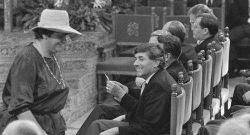 Erica Terpstra met hoed tijdens Prinsjesdag