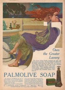 advertentie Palmolive zeep 1916