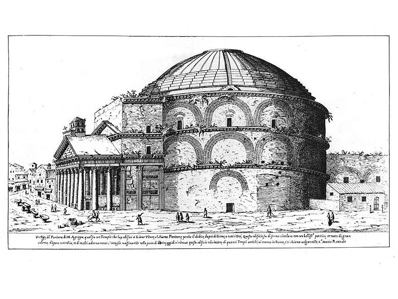 Incisione disegno Pantheon