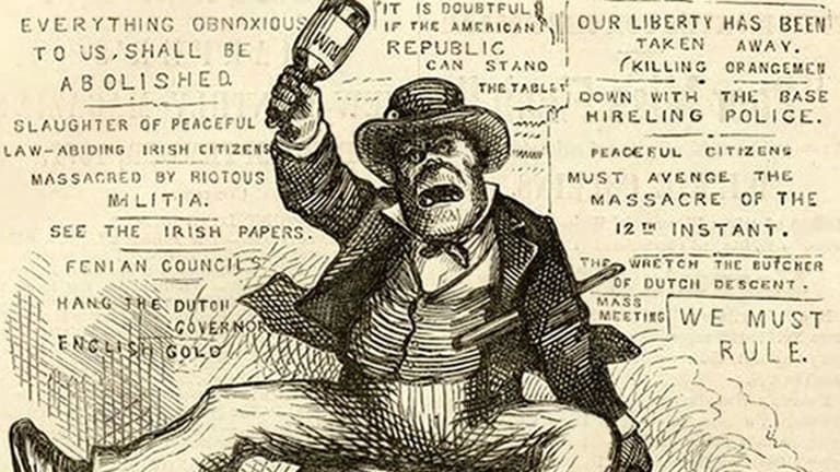 Image result for anti irish cartoon