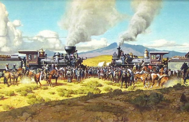 transcontinental railroad construction competition