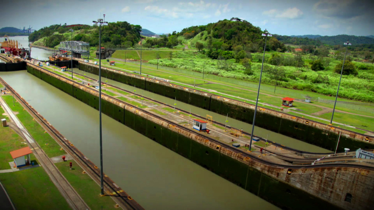 hight resolution of proces flow diagram panama canal