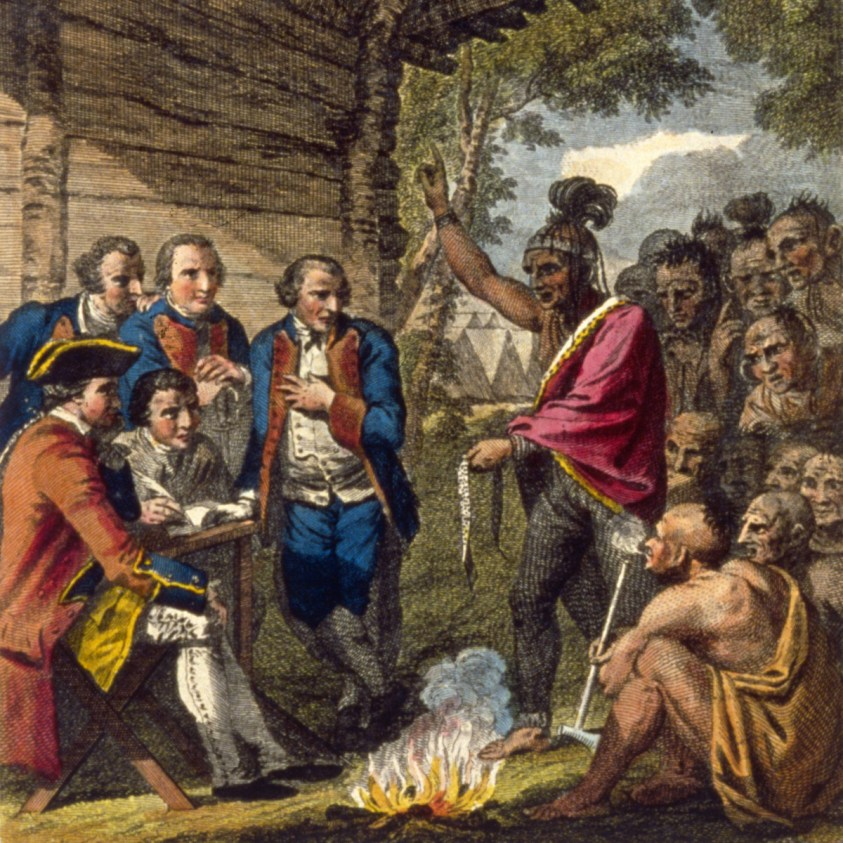 The British gave blankets from smallpox patients to American Indians besieging Fort Pitt.
