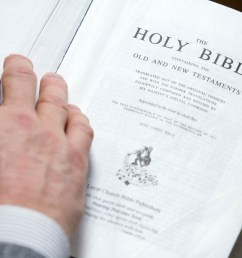 a copy of the king james translation of the bible seen in the bible baptist church [ 1200 x 675 Pixel ]