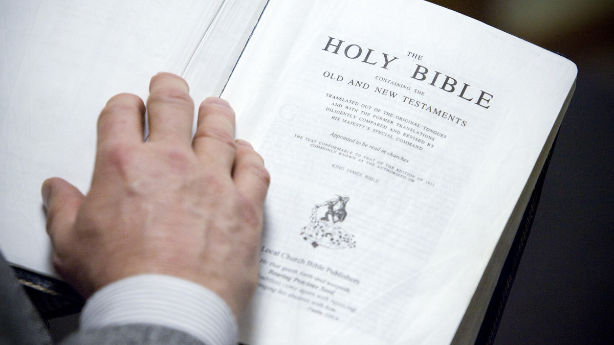 hight resolution of a copy of the king james translation of the bible seen in the bible baptist church