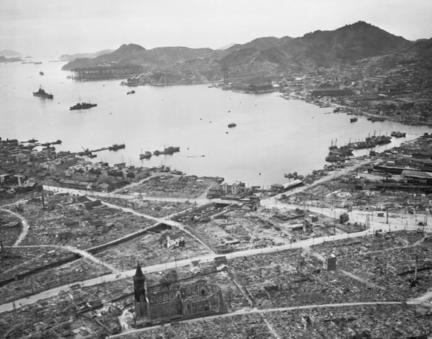 Among thefew buildings that survived after the plutonium bomb decimated Nagasaki was the same Christian church as above.