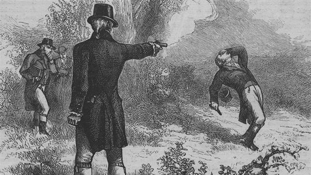 Image result for aaron burr and hamilton duel