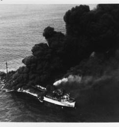 ss pennsylvania sun burning after being torpedoed by u 571 july 1942 naval german submarine  [ 1280 x 1006 Pixel ]
