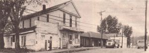 Rowlett's Grocery Milton KY Trimble Co on postcard