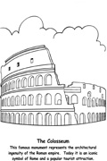 Roman Coloring Pages for Kids