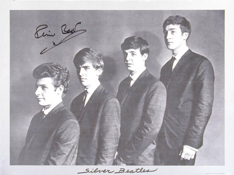the beatles pete best autographed