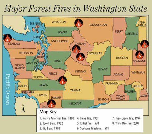 Washington Forest Fires A Tour HistoryLinkorg