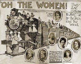 Suffrage Special arrives in Tacoma on June 29 1909