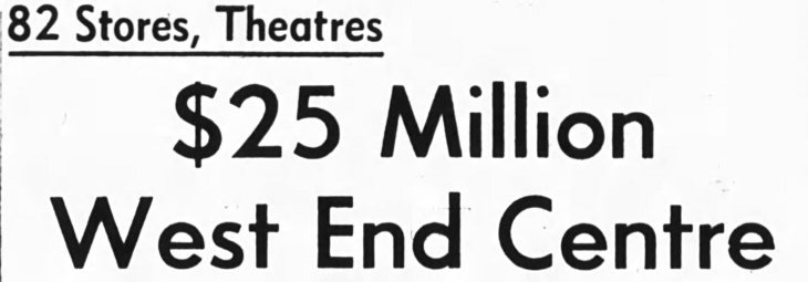 More details did come. The details, however, did not come with shovels. Source: Ottawa Journal, November 15, 1965.