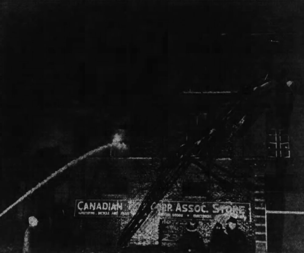 In spite of the Ottawa Fire Department's best efforts, it was a write-off. Source: Ottawa Journal, January 26, 1950.
