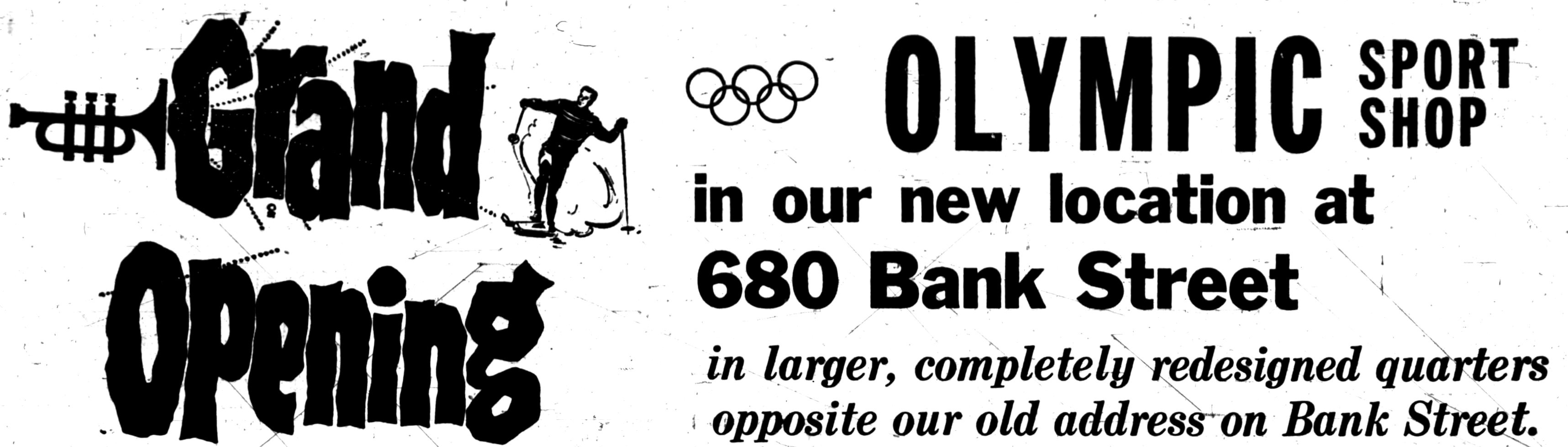 Images from Olympic Sport's grand opening announcement. Source: Ottawa Journal, October 26, 1967.