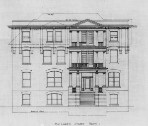 MacLaren Elevation. Source: Library and Archives Canada, Ben Albert Dore, Job 35