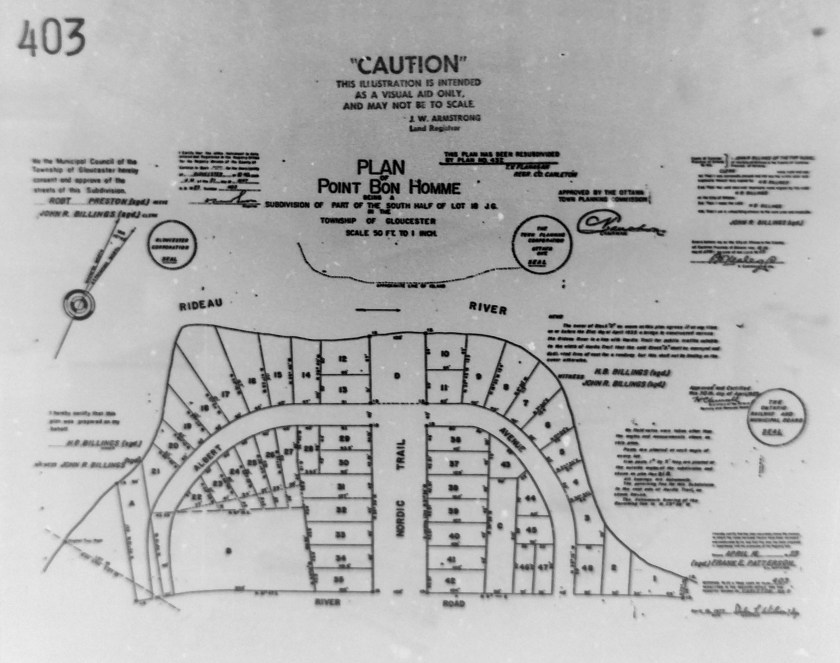 When Nordic Circle was first subdivided, it was given the name 'Place Bon Homme'. Source: Ottawa Land Registry Office, Plan 403.