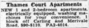 The price is right. Source: Ottawa Journal, January 6, 1954, p. 30.