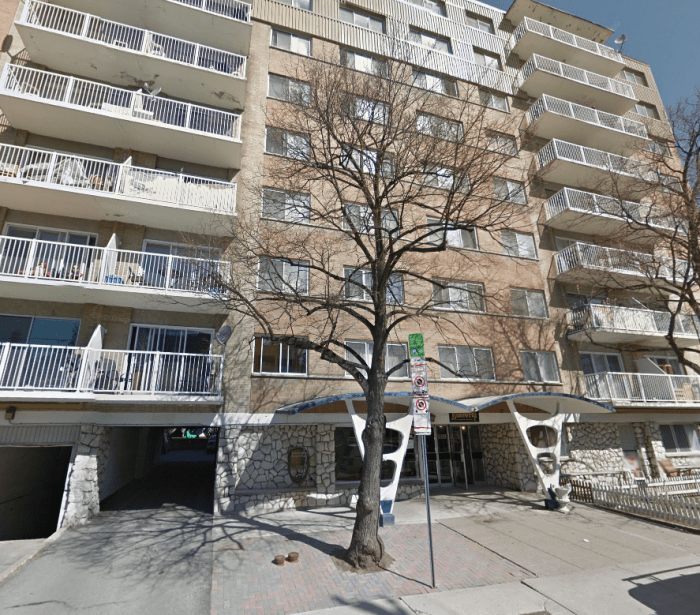 The Kimberly, located at 321 Waverley in Centretown in 2015. This was Witt's last completed building. Image: Google Maps.