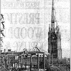 View of St. James from the terrace atop the development's condominium portion, known as King Plaza. Source: Toronto Star, December 12, 1991, p. F6.