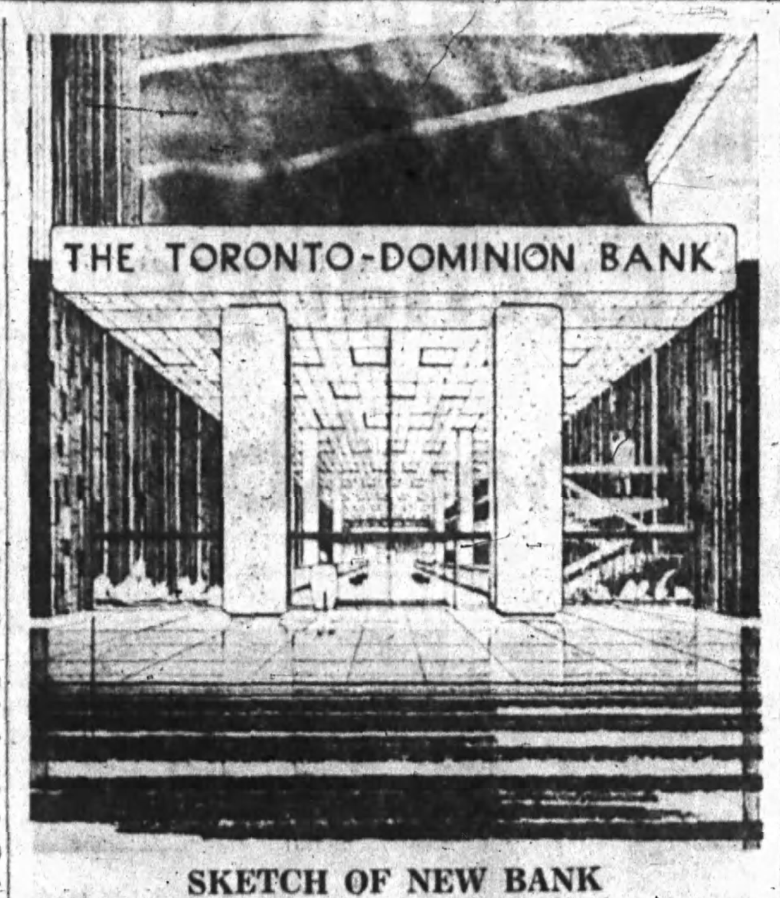Sketch of the new branch run in the Ottawa Journal. Source: Ottawa Journal, March 31, 1964, p. 4.