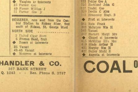 United Cigar Store. Source: Might's Ottawa Directory, 1923.