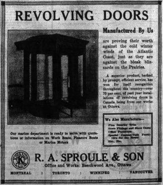 Revolving doors. Source: Ottawa Journal, September 21, 1925, p. 16.