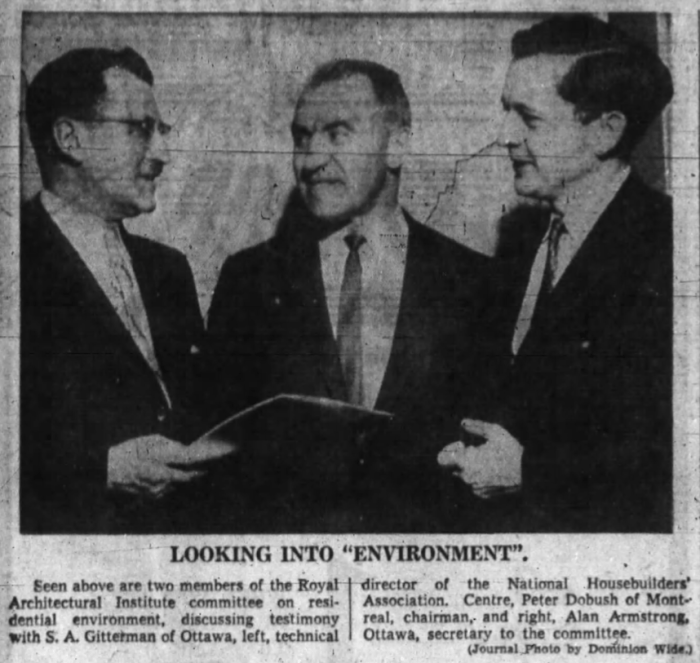 Sam Gitterman (left) in 1960. Source: Ottawa Journal, February 10, 1960, p. 3.