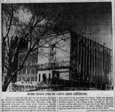 St. Patrick's College Arts Wing. Source: Ottawa Journal, March 4, 1960, p. 3.