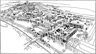 Campus Plan. Source: Ottawa Citizen, January 20, 1961, p. 13.