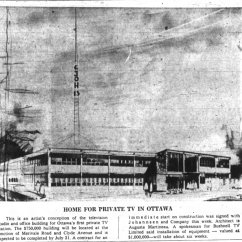 Martineau's sketch for the new station at 1500 Merivale. Source: Ottawa Journal, February 2, 1961, p. 21.