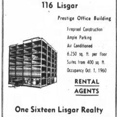 Advertisement for 116 Lisgar. Source: Ottawa Journal, May 30, 1961, p. 9.