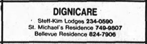 Although the nursing home function ceased, St. Michael's continued as a seniors' residence. Source: Ottawa Journal, June 6, 1980, p. 28.
